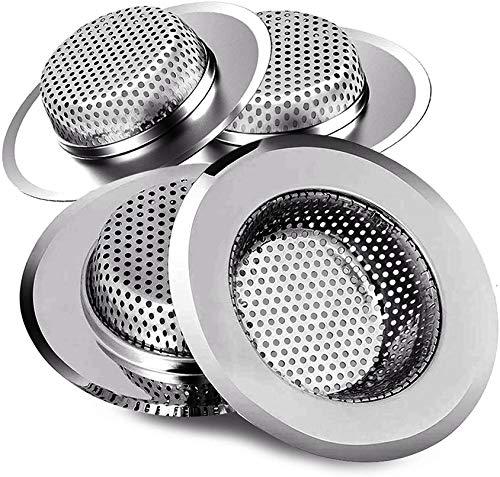IXIGER Filter für Küchenspüle, Sieb, kleines Abflusssieb, Badezimmer-Spüle, Netzkorb für Spülbecken, Mehrzweck, Neigung, Wäsche, Wohnwagen und WC (4 Stück)