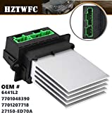 HZTWFC 7701048390 6441L2 MA959 Calentador Motor Resistencia del Soplador Aire Acondicionado Ventilador Resistencia de Velocidad Reemplazo 7701207718 27150-ED70A