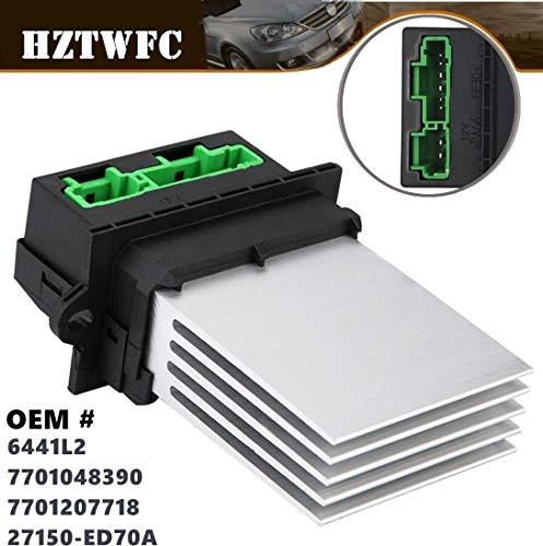 HZTWFC 7701048390 MA959 6441L2 Calentador Motor Resistencia del Soplador Aire Acondicionado Ventilador Resistencia de Velocidad Reemplazo 7701207718 27150-ED70A
