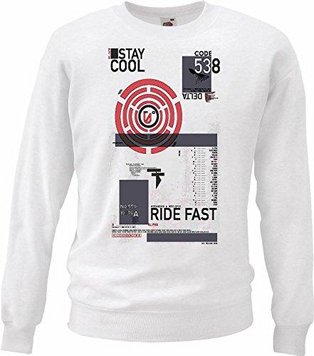 Reifen-Markt Sweatshirt Herren Motiv-300564 Größe 2XL Farbe Weiss Druck