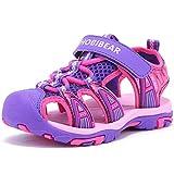 Girls' Summer Outdoor Beach Sports Closed-Toe Sandals Purple 1, 11 Little Kid