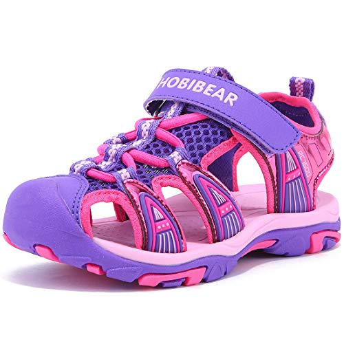 Boys' and Girls' Summer Outdoor Beach Sports Closed-Toe Sandals(Toddler/Little Kid/Big Kid)