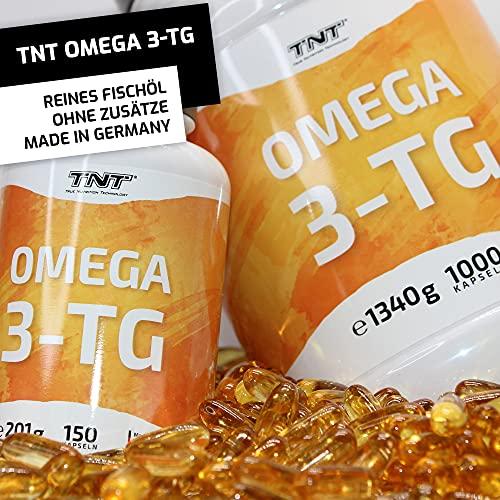 TNT Omega 3-TG │ Hochwertige und essentielle Fettsäuren │ Fischölkapseln mit EPA und DHA unterstützen die Gesundheit, Fitness und das Immunsysstem │150 Kapseln - 4
