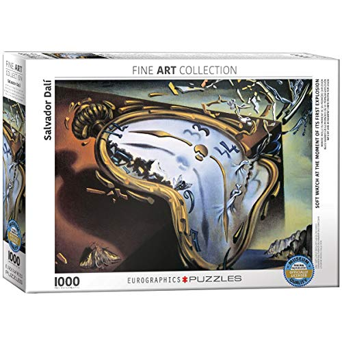 EuroGraphics 'Salvador Dalí Suave Reloj en el Momento de Primera explosión de fusión Reloj Puzzle (1000Piezas, Multicolor)
