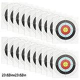 Bangcool 20PCS 23.6 '' Paper Target Multipurpose 10 Anillos Paper Archery Target...