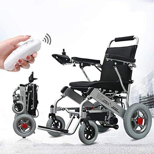 Wlylyh Sillas De Ruedas Eléctricas Plegables Ligeras Automáticas Smart Car Light Plegable Ultraligero Ancianos Discapacitados Scooter, con Control Remoto