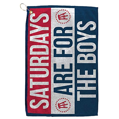 Barstool Sports Saturdays are for The Boys Golf Towel, Clip-On Accessory...