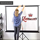 Royality Tripod Stand Projector Screen (6 Ft. (Width) x 4 Ft. (Height) - 84') Diagonal in 4:03 Ratio Aspect, Ultra HD, 4K Technology, Active 3D