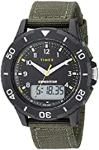 Timex Men's TW4B16600 Expedition Katmai Combo 40mm Green/Black Nylon Strap Watch