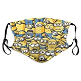 Despicable-Me-Minions-Banana Washable Face Dust Reusable Adjustable Filter Windproof Mouth