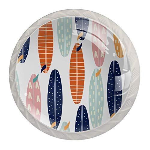 Schubladengriffe ziehen für Home Kitchen Dresser Wardrobe,Nahtloses Muster Surfbretter Mode Sommer Print