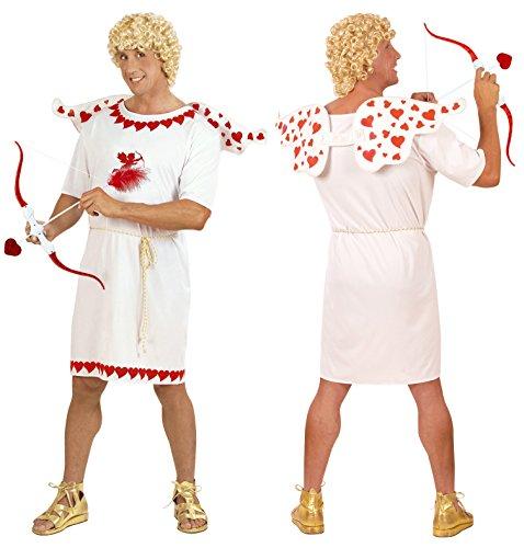 Party-Teufel® Komplett Kostüm Amor Liebesgott Eros Herren Cupido inkl. Tunika Gürtel Flügel Pfeil & Bogen Blonde Perücke Gr. L Junggesellenabschied
