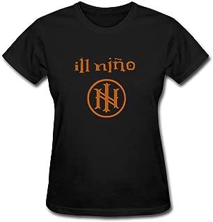 Women's Ill Nino Band Logo Heavy Metal T-Shirt Short Sleeve