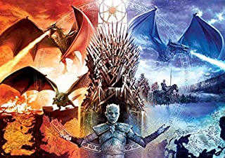 Buffalo Games - Game of Thrones - Fire & Ice - 500 Piece Jigsaw Puzzle, Multicolor