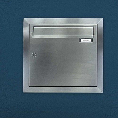 Max Knobloch Edelstahl Unterputz-Briefkasten (12 Liter) Einbaubriefkasten - 2