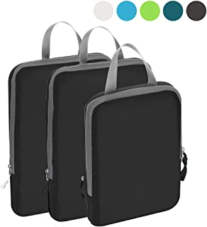 BAGAIL Ultralight Compression Packing Cubes Travel Expandable Packing Organizers for Carry On Backpack