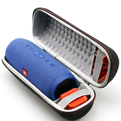 LTGEM EVA Hart Fall Reise Tragen Lagerung Tasche für JBL Charge 3 Tragbarer Bluetooth Lautsprecher.Passend für USB-Kabel und Ladegerät.