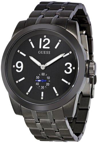 Guess W17536G1 - Reloj analógico de Cuarzo para Hombre con Correa de Acero Inoxidable, Color Negro