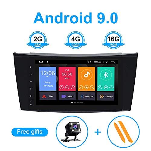 ZLTOOPAI para Mercedes Benz Clase E W211 CLS W219 Android 9.0 Radio de Coche 8'Estéreo para automóvil Navegación GPS Coche GPS Soporte Pantalla Espejo WiFi OBD2 SWC