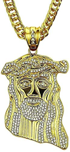 LBBYMX Co.,ltd Necklace European and American Tide Brand Jewelry Neck Chain Alloy Diamond Hip-Hop Pendant Necklace Fashion Wear Accessories for Women Men Gifts