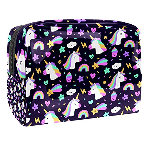 PVC Trucco Bag Donna e Ragazza Cosmetici Toiletry Organizer Pouch Bag 7.3x3x5.1 Pollici Coccinella Modelli