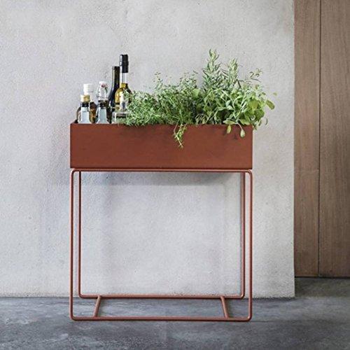 LRW De Scandinavische minimalistische moderne ijzeren vloersoort binnenhuiskamer-balkon-groen bloemen-bloemen-plank