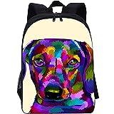 RomantiassLu Mochila escolar Mochila impresa en 3D pug backpack Mochila Vintage para adolescentes niño niña camping y senderismo mochilas 16inch Mochila animal lindo