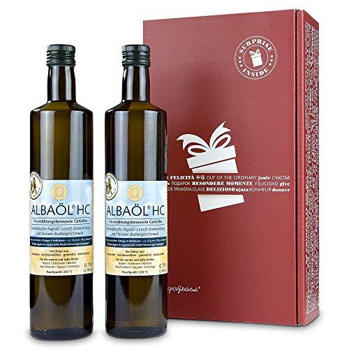 2er Pack Alba - Alba-Öl Raps-Öl mit Buttergeschmack aus Schweden (2 x 750 ml in Geschenkverpackung))