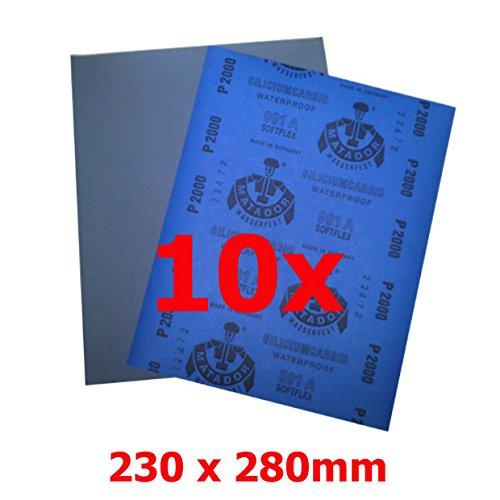 MATADOR Nassschleifpapier P80 10Stück