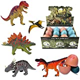 Liberty Imports 3D Dinosaur Puzzle in Jurassic Egg Educational Assembly Kit - Ideal Kids Dino Figure Party Favors Bulk Supplies (Set of 12)
