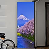 DFKJ Pegatina de Puerta geométrica Negra, póster Autoadhesivo extraíble, Papel Tapiz Espacial Tridimensional, Pegatina de diseño para el hogar A25, 86x200cm