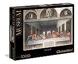 Clementoni-Los Pingüinos De Madagascar Puzzle 1000 Piezas Museos Leonardo La última Cena, 10+ (314478)
