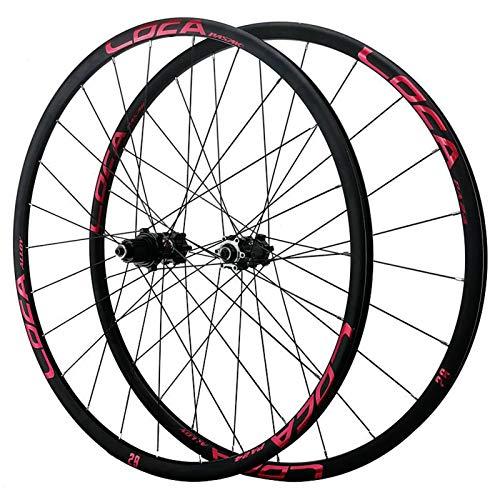 VPPV MTB Ciclismo Wheels 26/27,5/29 Pulgadas, Aleación Aluminio Freno Disco 24 Hoyo 700C Híbrido/Borde Montaña 8-12 Velocidad (Size : 29inch)