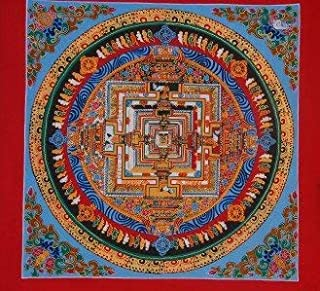 Hand Painted Kalachakra Mandala Thangka Painting From Nepal (005)