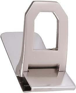 Tiekart men silver plain solids money clip