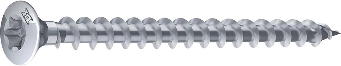 HECO 46495 UNIX-top plankenschroef lensverzonken kop Torx 10, staal, 3,5 x 40 mm, verzinkt blauw, 500 stuks