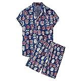 Camicie Casual Uomo Estate Moda Scollo V Sciolto Uomo Shirt Modern Basica Cardigan Tasca Uomo Maniche Corte Set Casual Vacanza Uomo T-Shirt