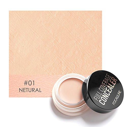 Concealer, Full Coverage Concealer Dark Circles Treatment Creamy Spot Acne...