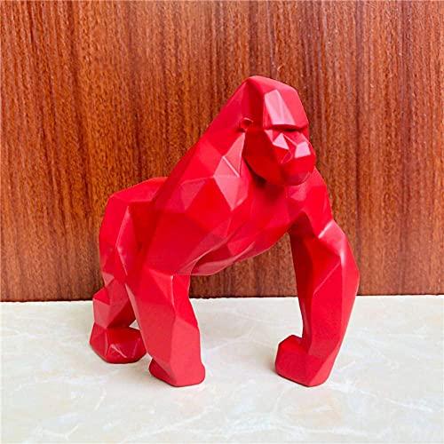 ADSFV-Esculturas Estatuas Animales geométricos Adornos de Gorila Sala de Estar Oficina TV Gabinete de Vino Decoración Creativa del hogar Resina Artesanía Regalos-4_Size: _15812Cm3