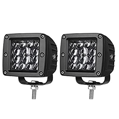 LED Pods 3 inch, AKD Part 84W LED Cubes Spot Lights Philips LED Work Lights Driving Lights Light Bar Pods Off Road Lights for Truck Motorcycle Boat