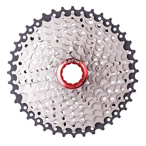 Ljourney Fahrrad Kassette Schwungrad - 10 Fach Kassette Mountainbike 11-40T Schwarz und Silber Kassette Schwungrad, Fahrrad Reparatur Werkzeug