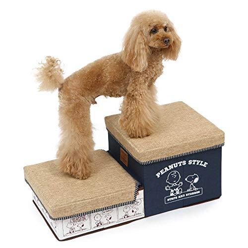 犬用 階段 ペットパラダイス | スヌーピー ゆとり 収納 ステップ 折り畳み可能 収納付き 階段 2段 超小型犬 小型犬 シニア犬 胴長犬