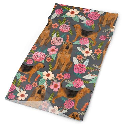 NA Bloodhound Honden En Bloemetjes CharcoalFacial Hoofdband Make Up Wrap Hoofd Terry Doek Hoofdband Stretch Handdoek make-up Haarband Sport Yoga Douche
