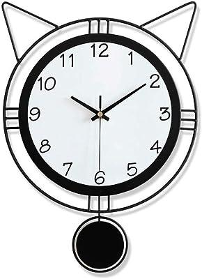 WSDSYZD Maison D/écoration R/étro Style europ/éen Horloge Murale m/énage Chambre Fer Art Horloge d/écoration Murale