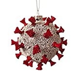 Misshapen Christmas 2021 Ornament Glass Ball with Spikes Gag Gift Novelty 3D Spikeball Ornament 5 in x 5 in x 5 in White Elephant Yankee Swap Dirty Santa Gift