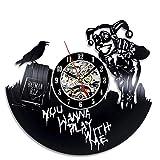 LKJHGU Disco de Vinilo Reloj de Pared Reloj de decoración niños niños Dormitorio de niños Reloj...
