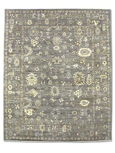 Pak Persian Rugs Handgeknüpfter Ushak Teppich, Grullo, Wolle, Medium, 243 X 297 cm