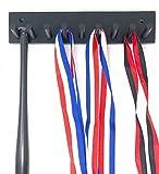 Baseball Bat Rack Display Holder 8 Mini Collectible Bats Black