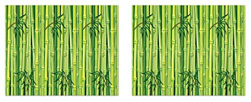 Beistle S52072AZ2 Bambus Hintergründe 2-teilig, 122 x 76 cm, grün