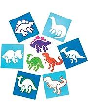 Baker Ross Plantillas de dinosaurios (pack de 6) para manualidades y decoraciones infantiles